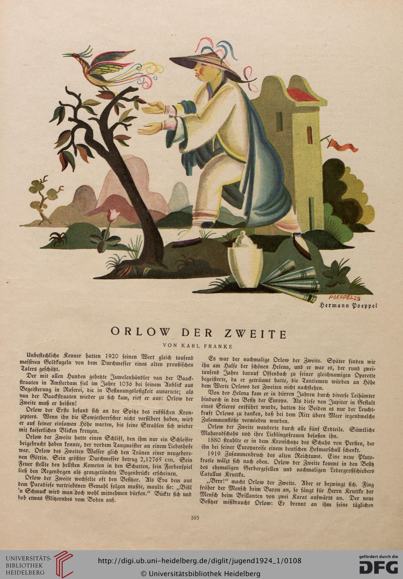 Jugend, German illustrated weekly magazine for art and life, Volume 29.1, 1924.