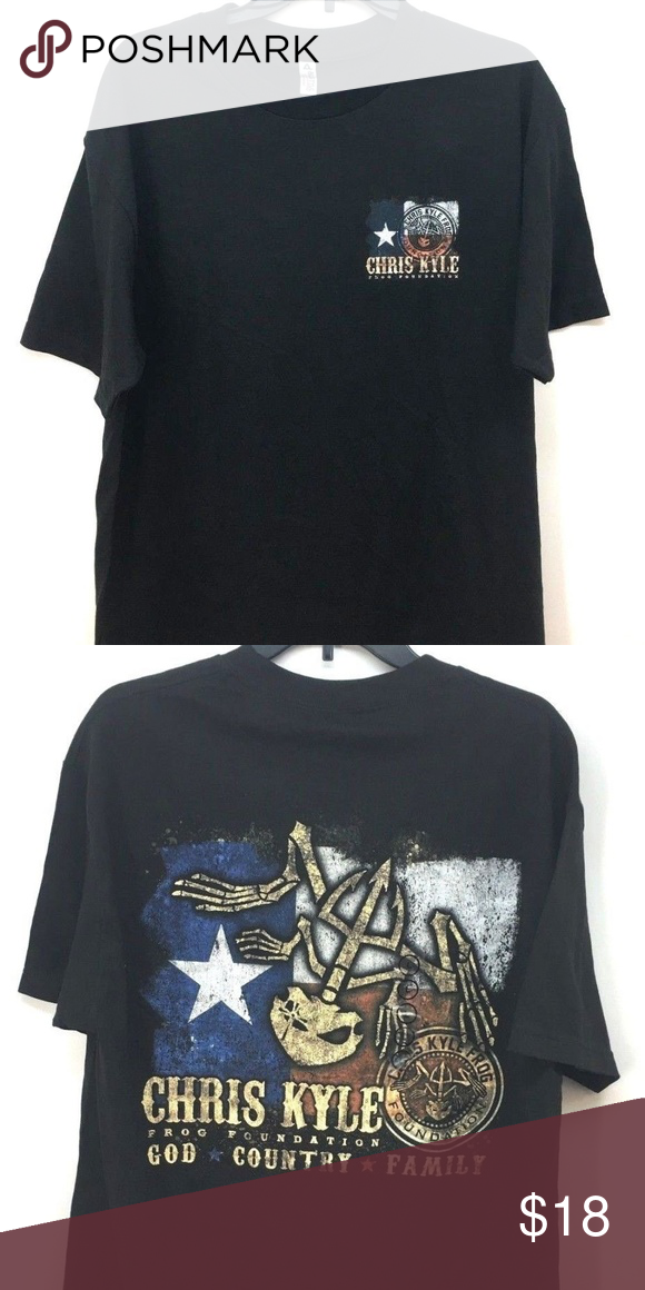 f372df1e Alstyle Men's Chris Kyle Frog Foundation T-Shirt Alstyle Apparel & Actiwear  Men's Chris Kyle Frog Foundation Black T-Shirt Sz L Quality t-shirt with  Chris ...