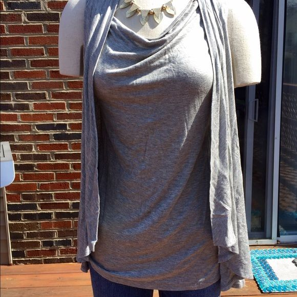 Oh Baby Maternity Top Gray top with look of vest. Lightweight and flowy. Beautiful! Perfect for those summer babies! Oh Baby Tops