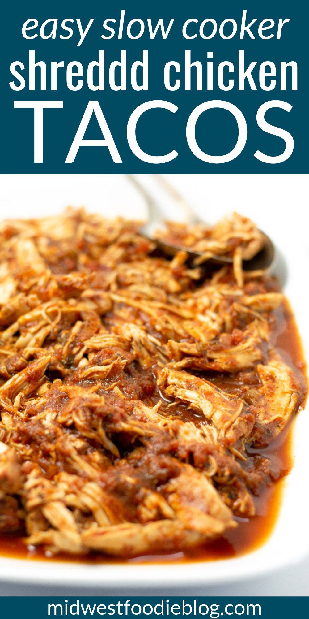 Healthy Slow Cooker Chicken Tacos | Midwest Foodie