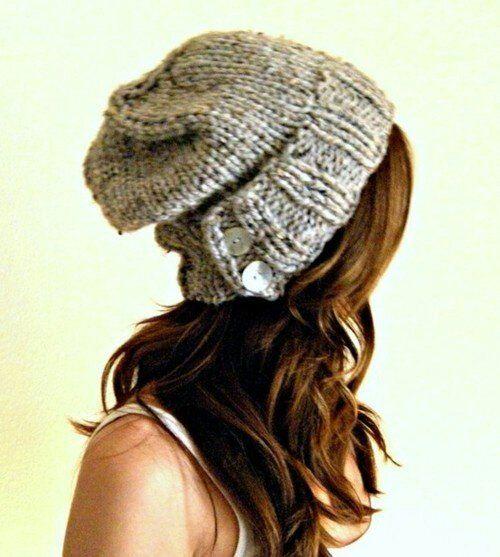 bonnet tombant femme tricot modele gratuit