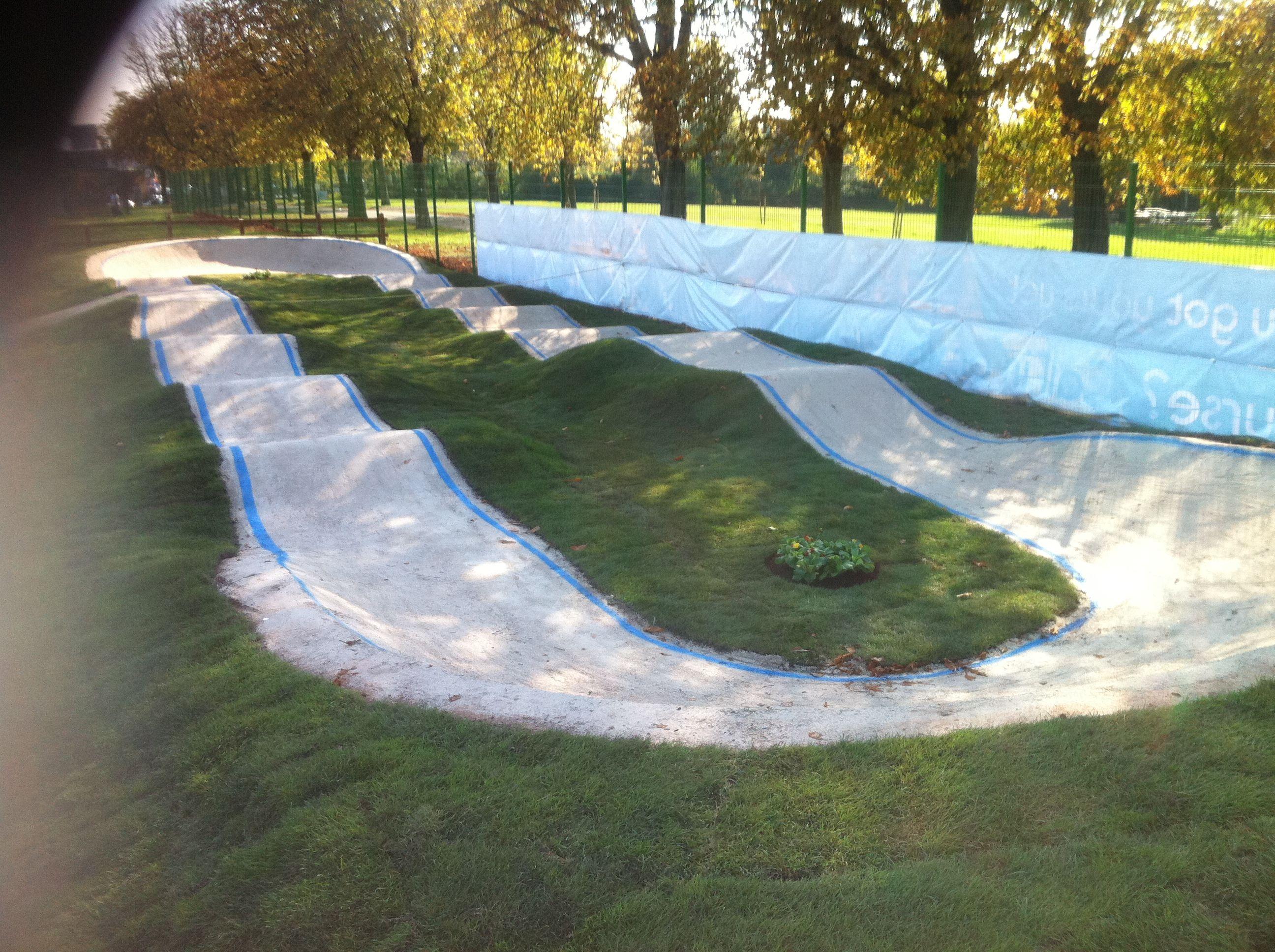 Anyone Have A Small Pump Track Bike Pump Track Backyard Skatepark Backyard Mini backyard motocross track