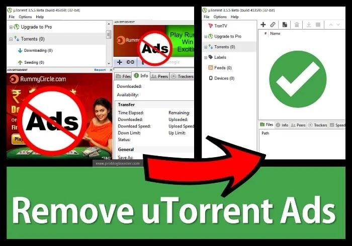 How to Remove/Disable uTorrent Ads Ads, Pro version, How