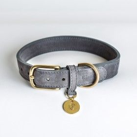 Hunde Halsband Tiergarten - Nubukleder Taupe