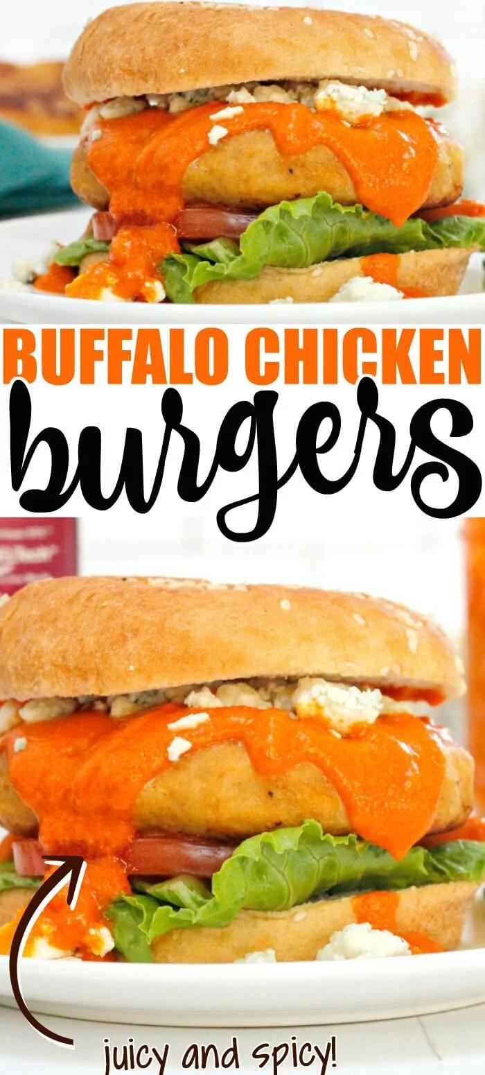Buffalo Chicken Burger In 2021 Chicken Burgers Buffalo Chicken Burgers Entree Recipes