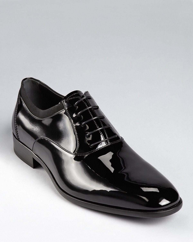Salvatore Ferragamo Men S Aiden Patent Leather Tuxedo Oxford Shoes Men Shoes Bloomingdale S Black Formal Shoes Men Mens Patent Leather Shoes Oxford Shoes
