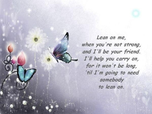 poetry - friendship - Lean on Me | Poems | Pinterest | Friendship ...