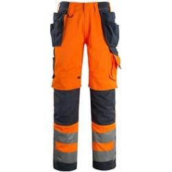 Photo of Mascot® unisex high visibility pants Wigan orange size 64