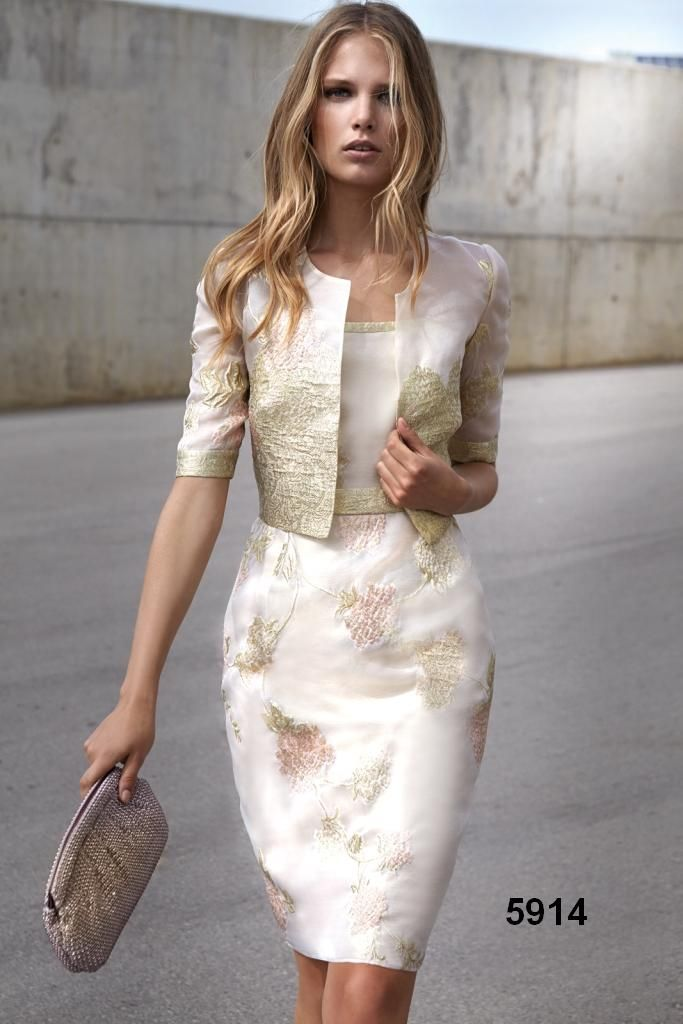 A Stunning Ivory Blush And Gold Mother Of The Bride Groom Wedding Guest OutfitsFormal