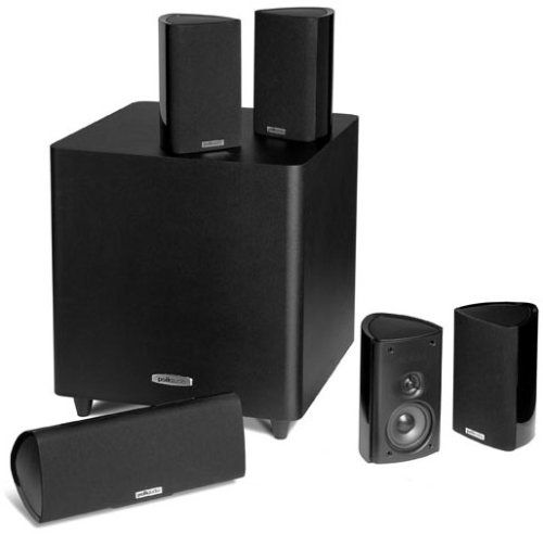Polk Audio Rm705 5 1 Home Theater System Set Of Six Black In 2020 Best Home Theater System Best Home Theater Speakers Home Theater System