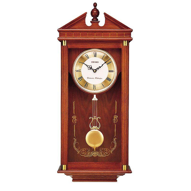 Seiko Solid Oak Chime Wall Clock With Pendulum Qxh107blh Pendulum Clock Pendulum Wall Clock Wall Clock