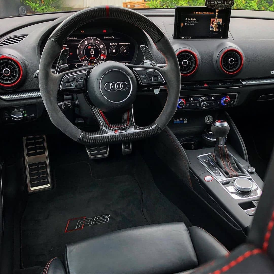 Clean Audi Rs3 Interior Rate This Interior From 1 100 Save Money On Tuning Parts Ultima In 2020 Audi Rs3 Audi Interior Luxury Car Interior