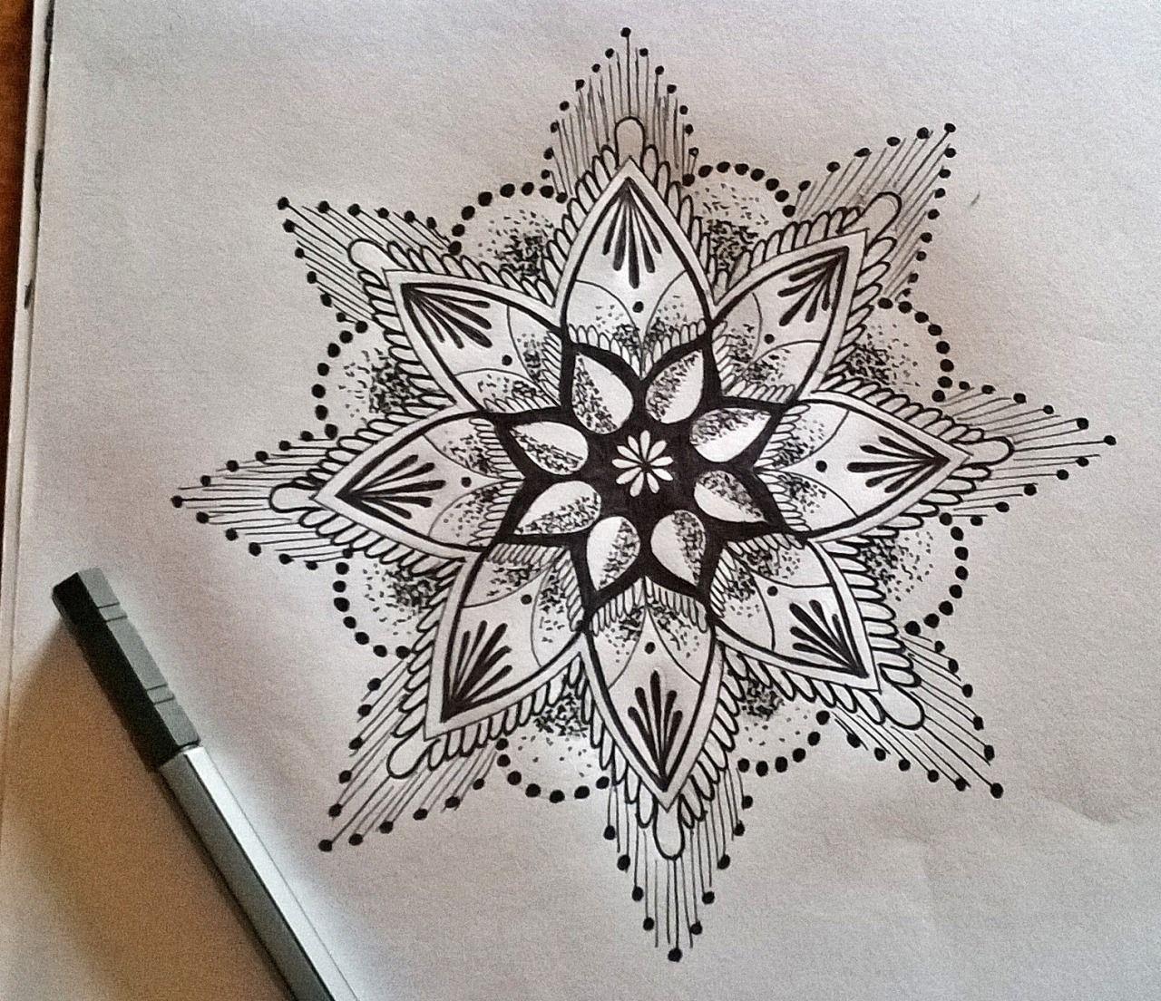 Pin Katie Gilbert Ink Mandala Tattoo Floral