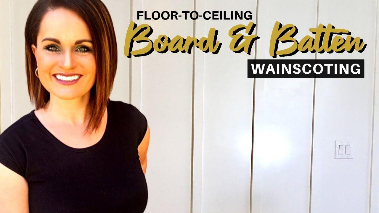 DIY WAINSCOTING | HOW TO INSTALL BOARD AND BATTEN WALLS #boardandbattenwall