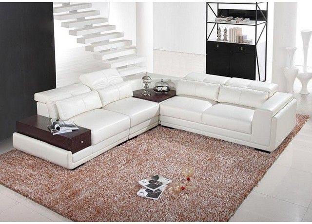 Sectional sofa with built in corner table sofa for Sectional sofa with built in table