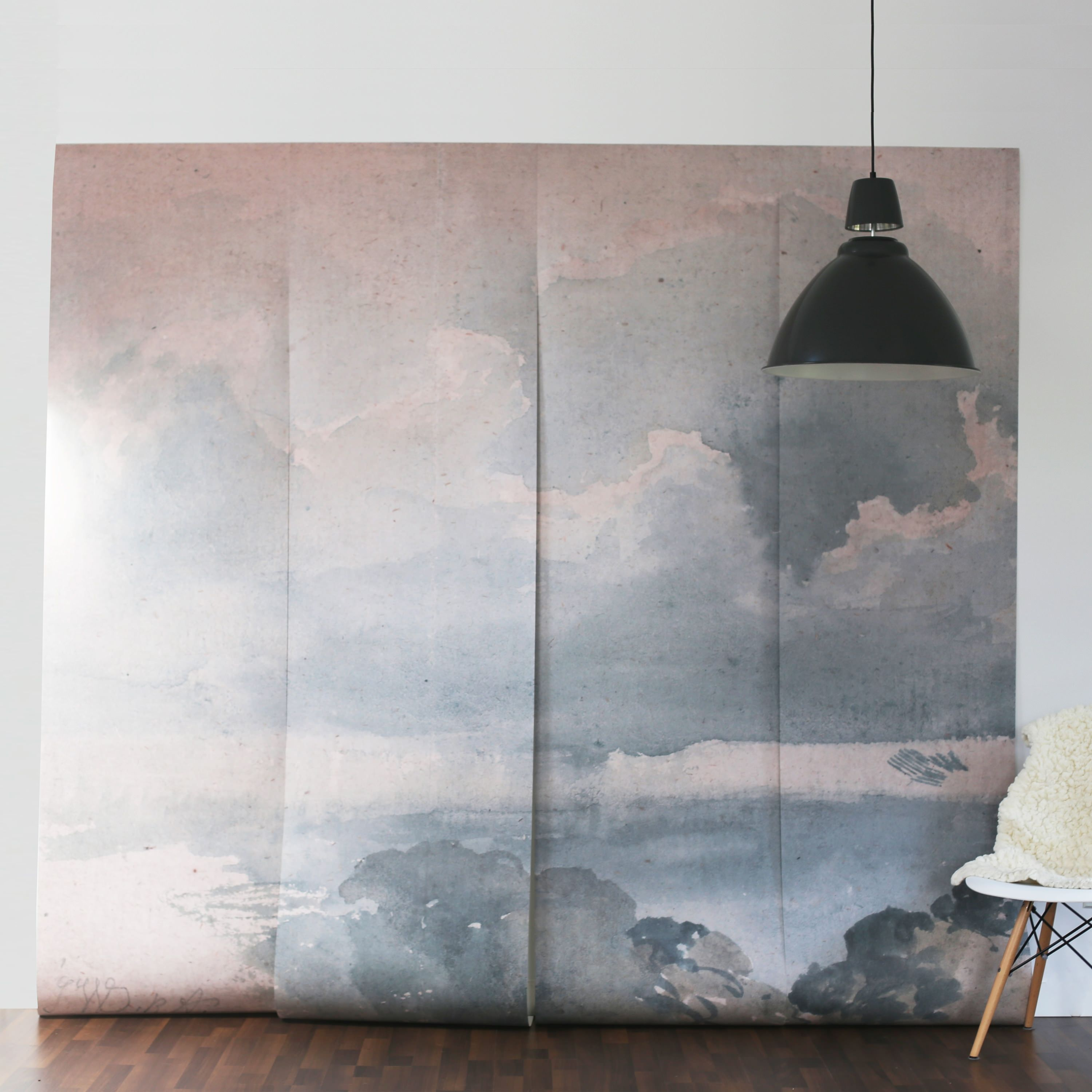 Anewall Features Vintage Clouded Sky Wall Murals This Self Adhesive Cloud Wallpaper Allows For Paste Free Application And Easy Removal