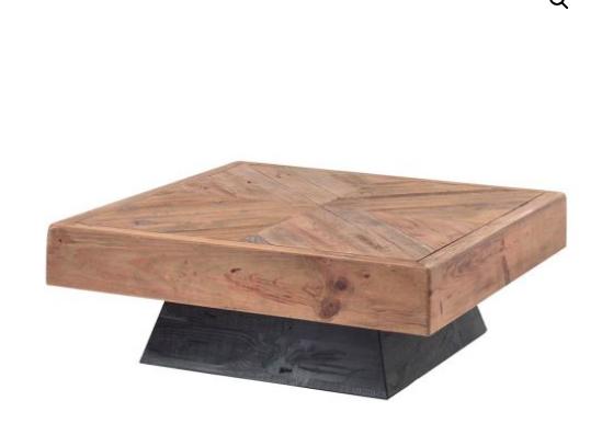 Table Basse Kahyt En Pin Recycle L Esprit Du Mobilier Authentique Table Basse Table Decoration Bord De Mer