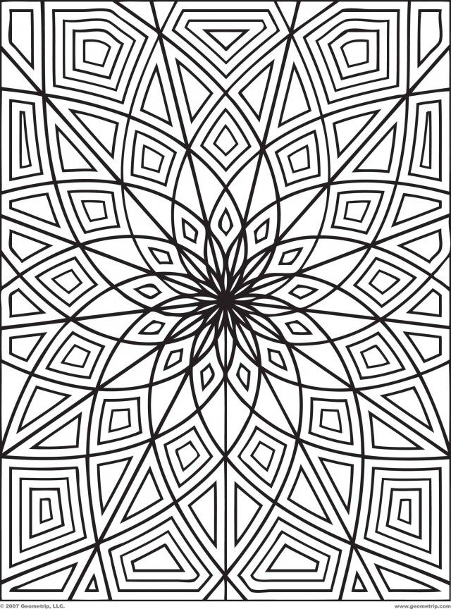 Intricate Geometric Coloring Pages Intricate Geometric Coloring Pages Coloringpages Abstract Coloring Pages Geometric Coloring Pages Detailed Coloring Pages