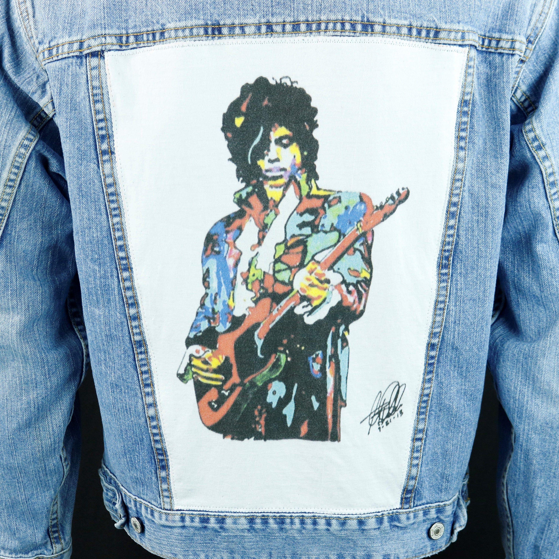Prince Levis Denim Jacket Artist Watercolor Blue Jean Trucker Etsy Denim Jacket Levis Denim Jacket Jackets [ 3000 x 2999 Pixel ]
