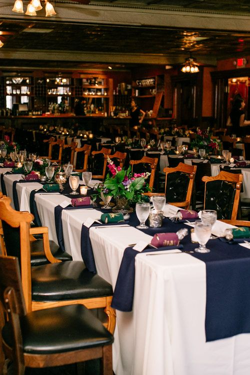 Jewel Tone Wedding Reception Tables At Ceviche Tapas Downtown