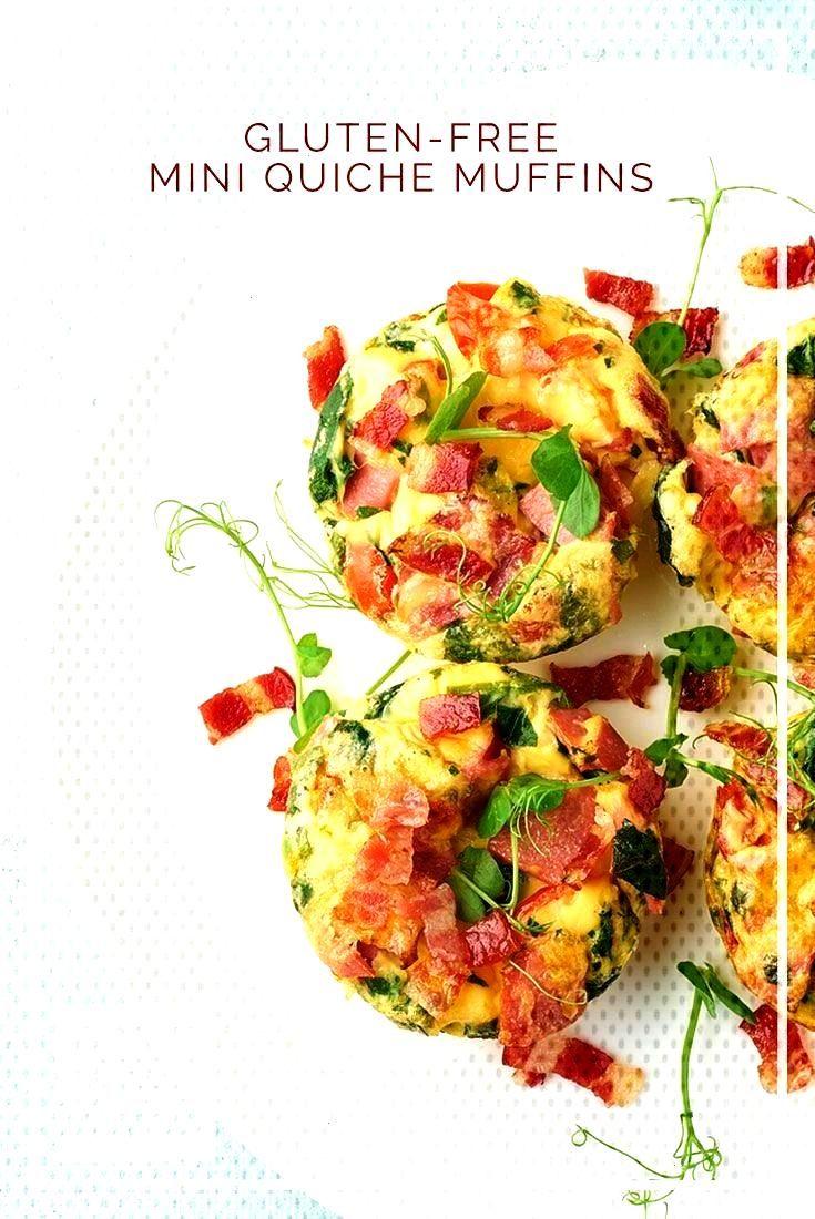 Mini Quiche Muffins Need a quick, healthy breakfast idea? Try these Gluten-Free Mini Quiche Muffins