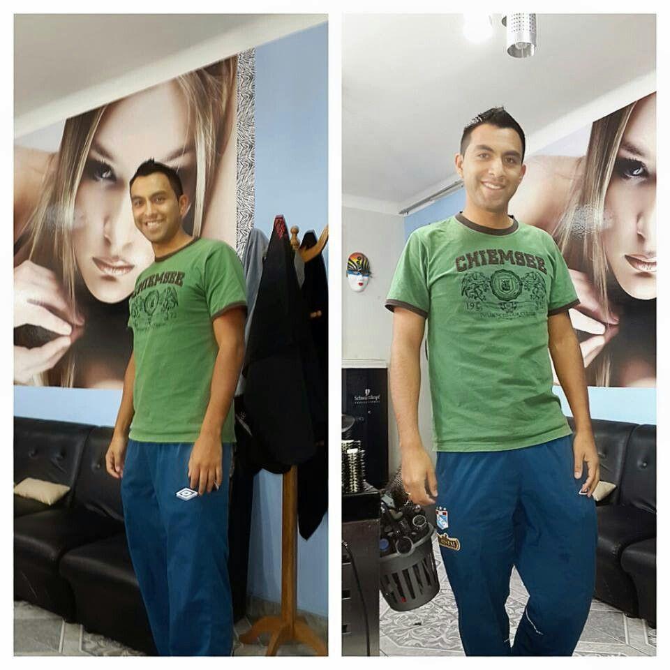 My friend Pedro y su new look