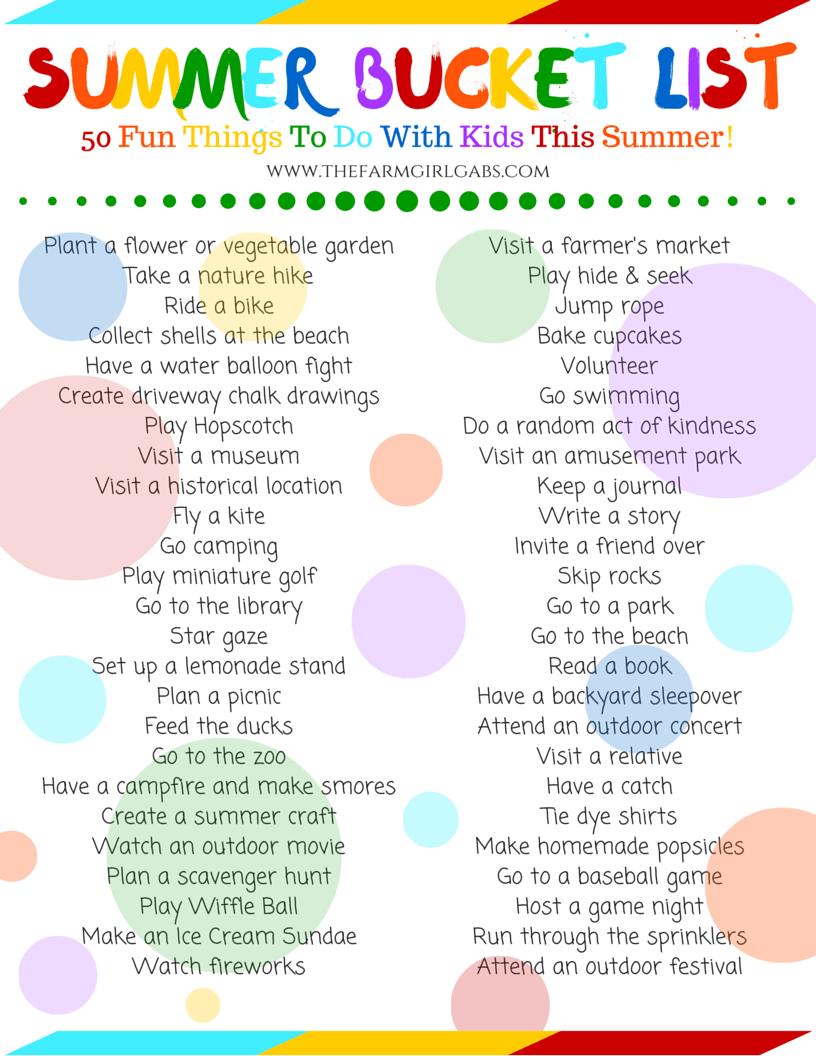 The Ultimate Summer Bucket List Printable!