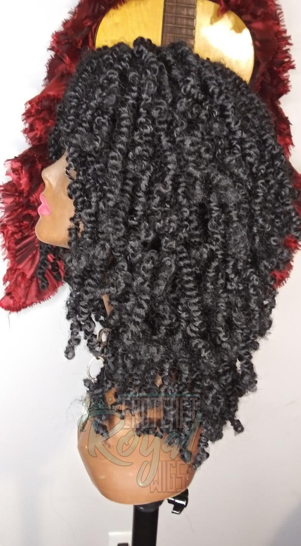 Crochet Wig Spring Twist Passion Twist Bomb Twists Crochet Braid Wig 14 in Handmade to Order #passiontwistshairstyle