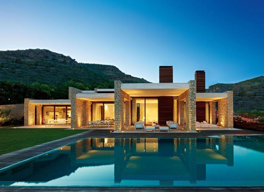 30 favolose ville da sogno con piscina houses for Ville moderne con piscina