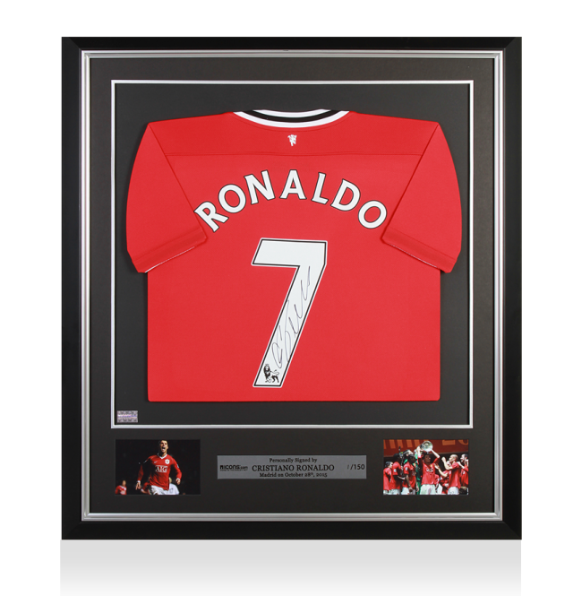 Cristiano Ronaldo Signed and Framed Manchester United Shirt ...