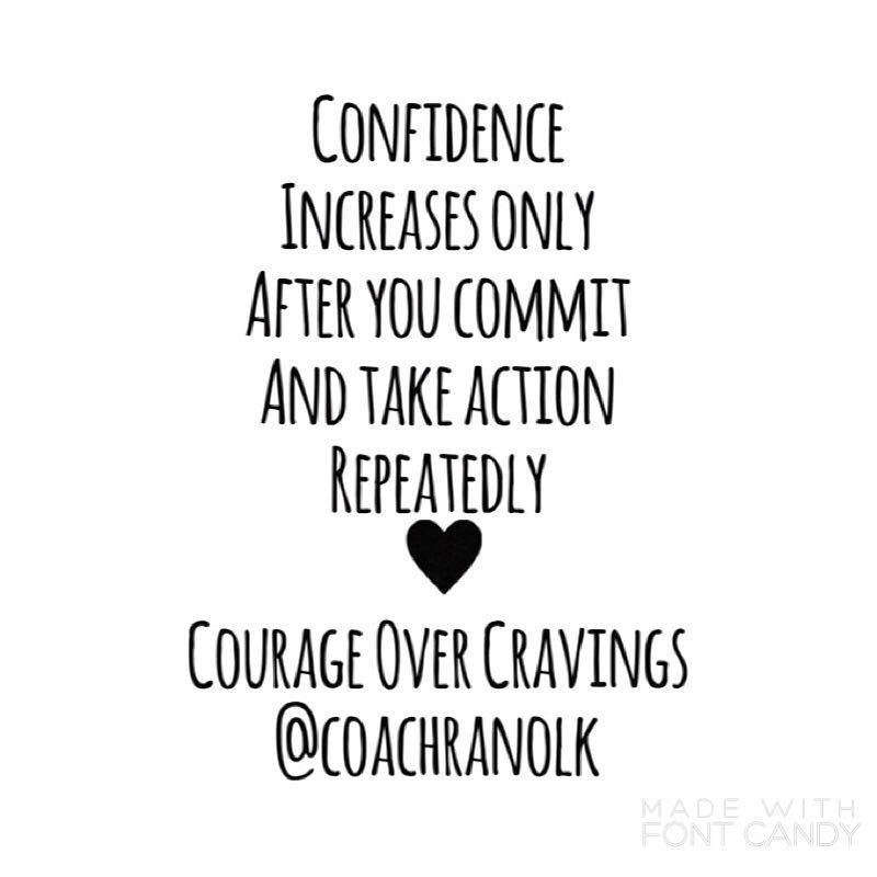 This is a hard maxim to follow in recovery-but it is so true. You will never feel ready and confident of your ability to overcome disordered eating and THEN begin. I wish. I waited for years to be ready...to be sure I wouldnt fail AGAIN. What I didnt know is that I repeatedly gave up too soon didnt use tools didnt have enogh knowledge and had no idea of how to begin forgiving myself. I didnt give myself credit for small victories and expected recovery to be a DAY that I just swore of…