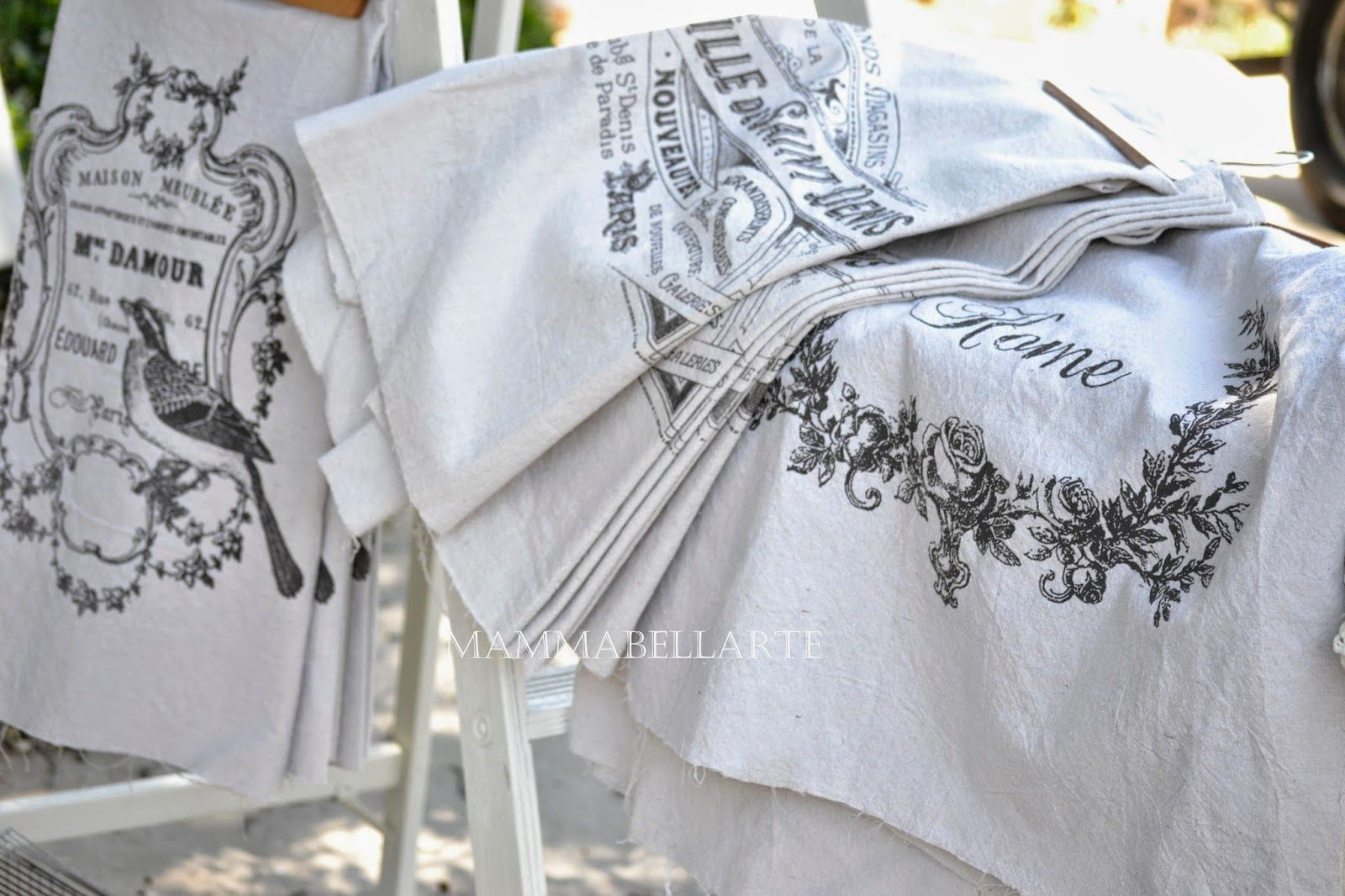 Impresion En Cojines Mammabellarte Fabric Prints Birds French Labels