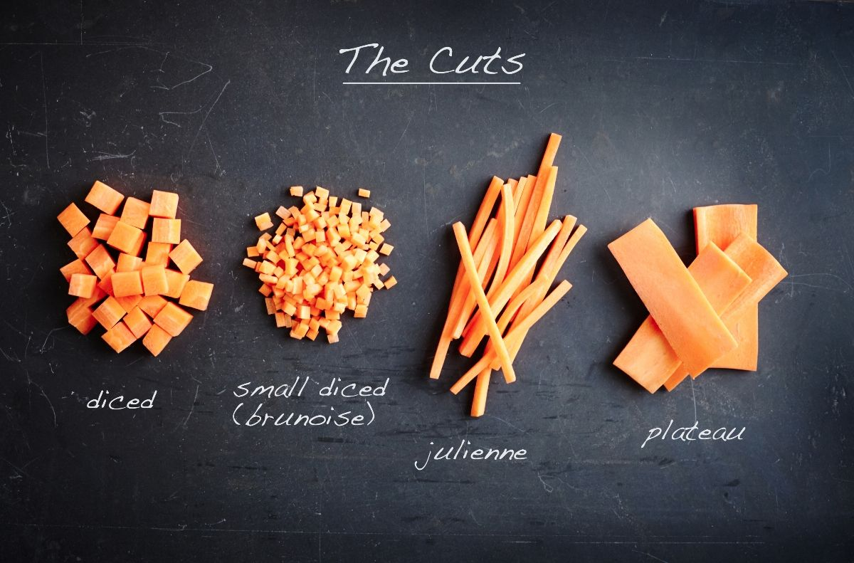 The basic cuts. | Cooking | Kitchen Techniques | Pinterest ...