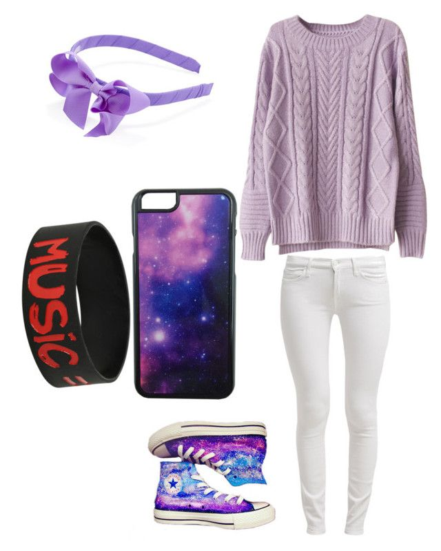 """""""Meeting him/ Donnie"""" by twilightfreak18-1 ❤ liked on Polyvore featuring 7 For All Mankind, Converse and Roial"""