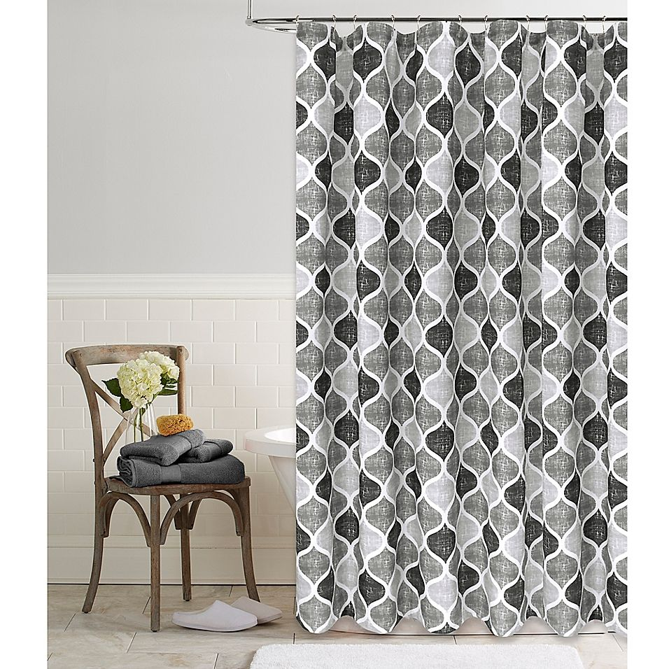 Priya 72 X 96 Shower Curtain In Grey In 2020 Curtains Coastal