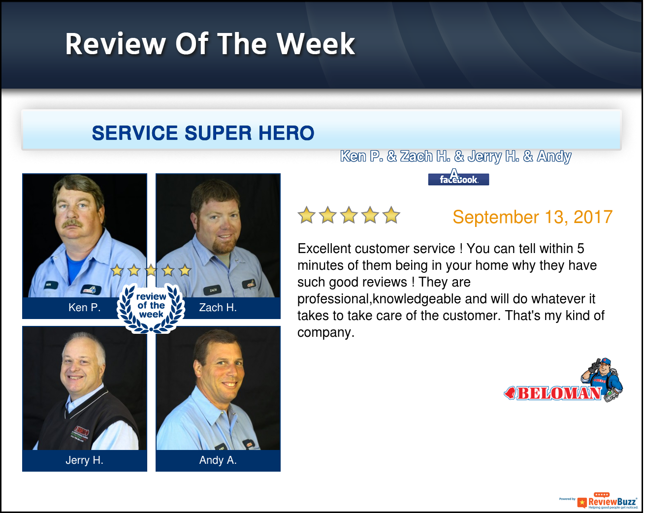 Review Of The Week Teambeloman Happycustomers Belleville Excellent Customer Service Heating And Cooling