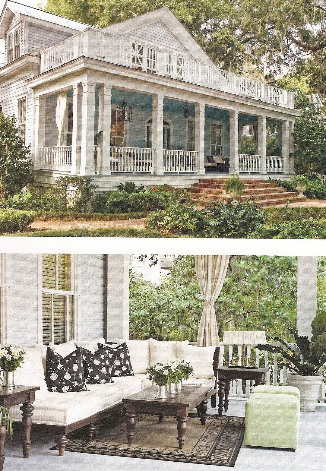 One of my all time favorite homes from paula deen 39 s book - Porches de casas ...