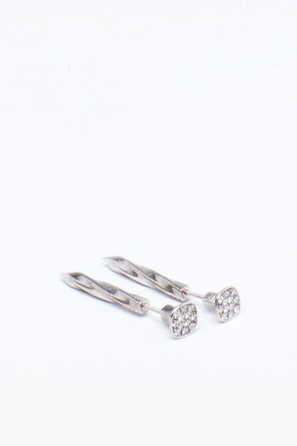Here Are The Indie Jewelry Picks You'll Be Passing On To Your Grandkids #refinery29  http://www.refinery29.com/new-fine-jewelry-brands#slide-21  Lauren Klassen Silver Diamond Nail Earrings, $915 $640.15, available at Totokaelo....