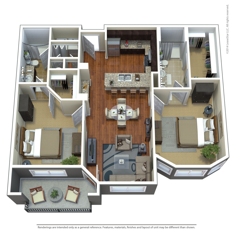 C3 Floorplan- The Landing At Briarcliff 816-561-0600 In