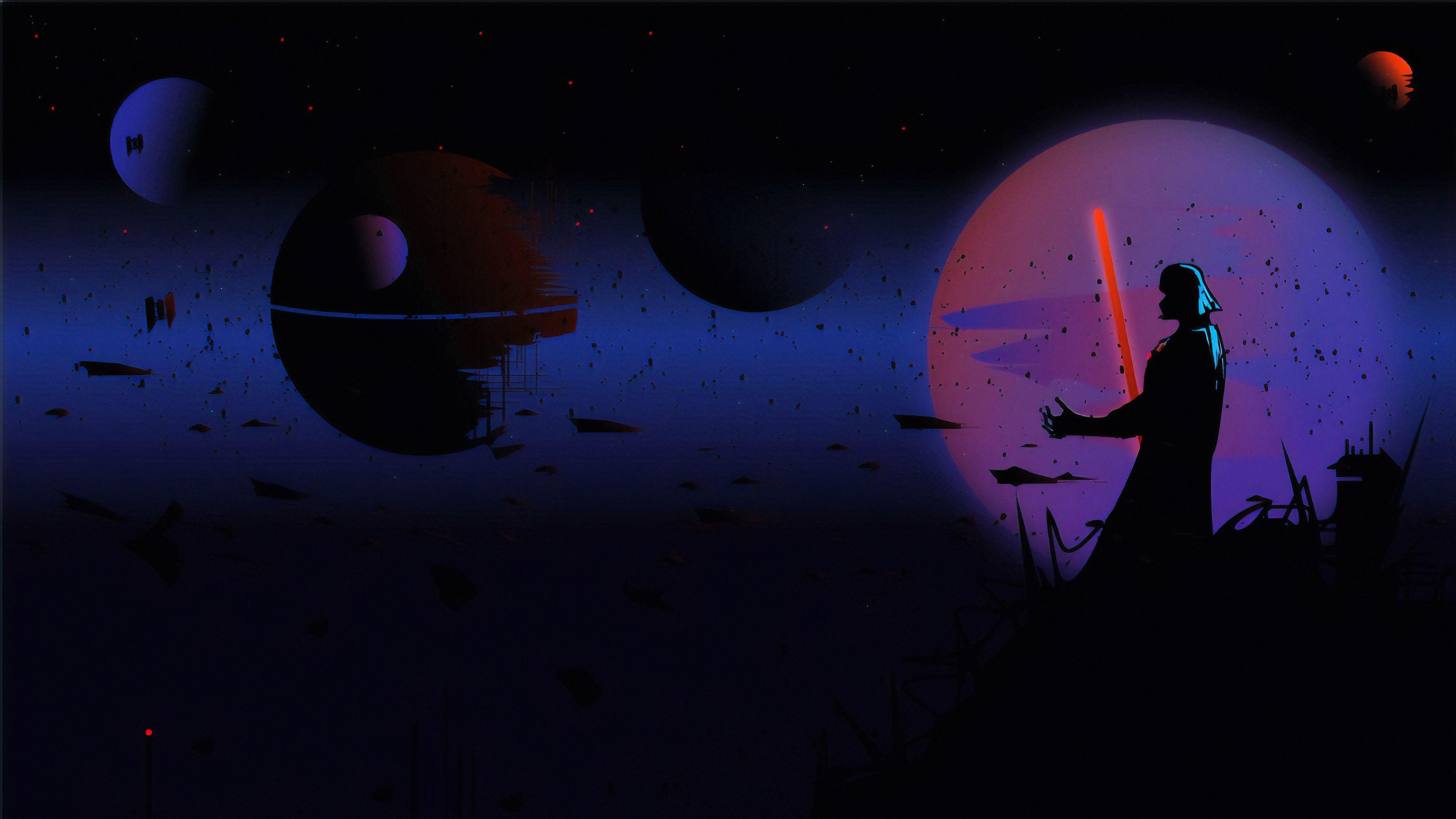 3840x2160 Star Wars Darth Vader Digital Art Wallpaper In 2021 Star Wars Wallpaper Star Wars Background Art Wallpaper