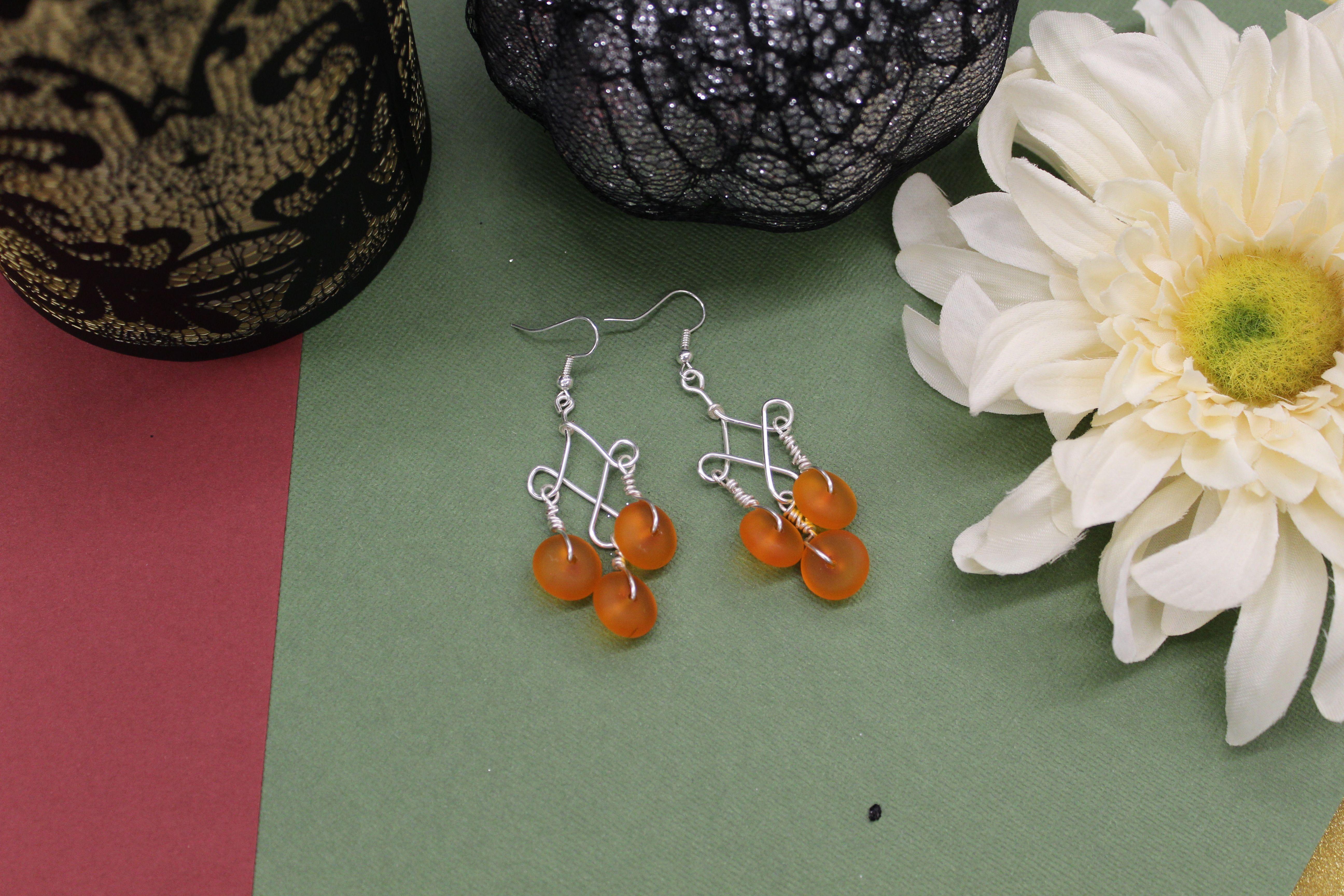 Fall Jewelry, Handmade, Earrings