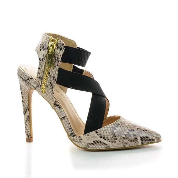 Peep Toe Crisscross Chunky Heeled Sandals - Buy Online