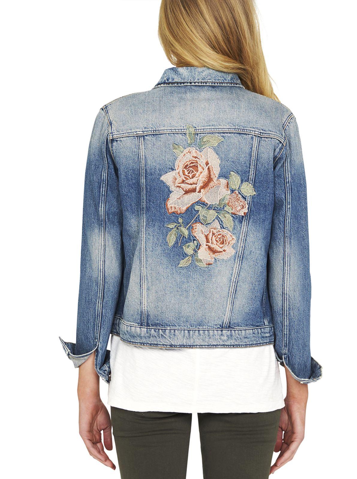 Image For Mavi Katy Emroidered Denim Jacket In Bronze Rose From Just Jeans Jackets Denim Denim Jacket [ 1600 x 1191 Pixel ]