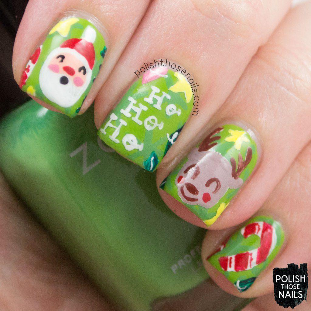 Polish Those Nails: 40 Great Nail Art Ideas - Christmas