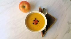 Butternut Squash Apple Soup is so good! This delicious soup will warm and comfort you when the weather is cold.