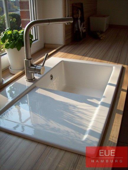Keramikspule Subway 45 Becken Rechts Esszimmer Villeroy Und Boch Keramikspule In 2020 Ceramic Sink Sink Office Interior Design