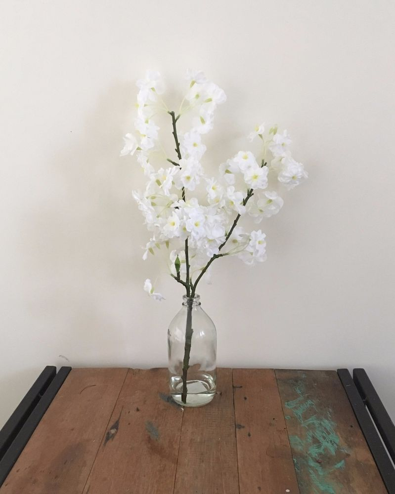 Artificial Fake Silk Flower Artificial Water White Cherry Blossom