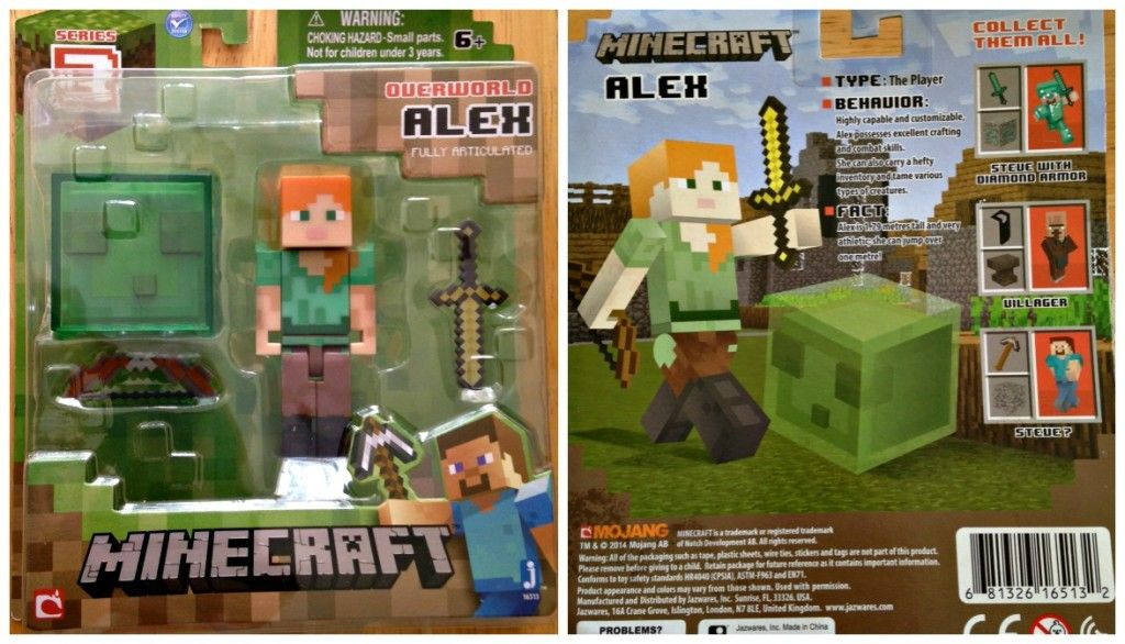 Kids Toys Action Figure: Alex Minecraft Action Figure Series 3 Revealed