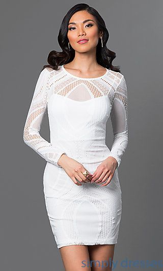 Homecoming Dresses, Formal Prom Dresses, Evening Wear: Long Sleeve ...