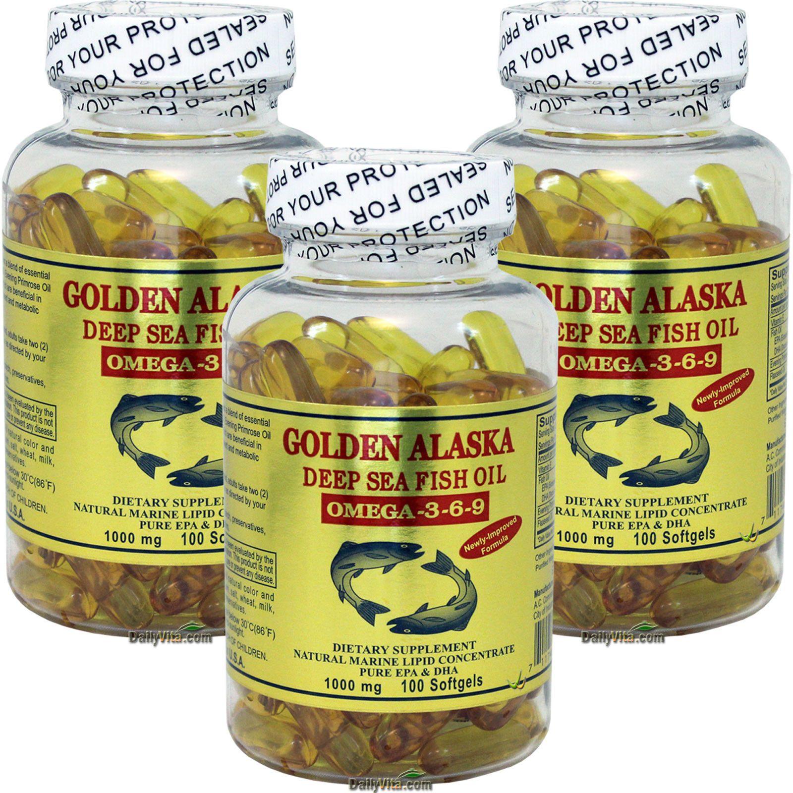 Details About 3 X 100 Sg Golden Alaska Deep Sea 1000 Mg Fish Oil